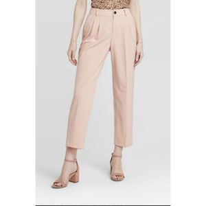 A New Day 2 Pants Straight Leg Pleated Front Pink